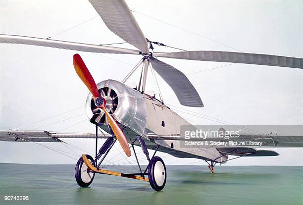 Model In an attempt to make flying safer at takeoff and landing the Spaniard Juan de la Cierva developed the 'gyroplane' in which the lift is...
