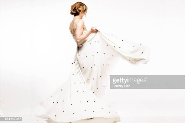 model in evening gown - strapless dress stock pictures, royalty-free photos & images