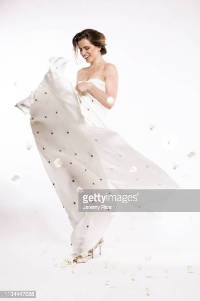 model in evening gown - strapless evening gown stock pictures, royalty-free photos & images