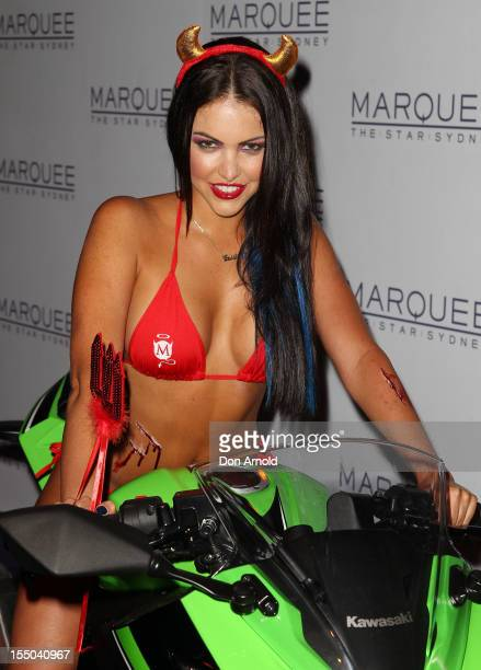 A model in Halloween costume attends the Maxim Australia Hot 100 Halloween Party at Marquee Nightclub on October 31 2012 in Sydney Australia