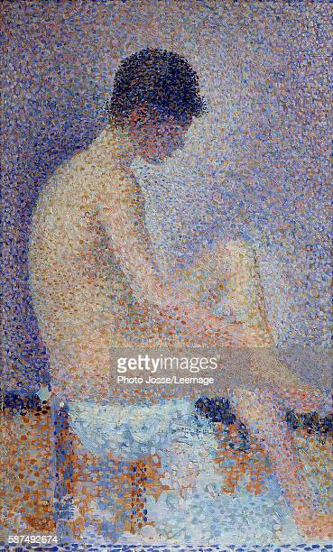 Model in profile Painting by Georges Seurat 1887 025 x 016 m Orsay Museum Paris