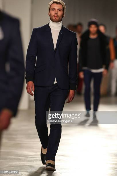 Model in the catwalk during Nuno Gama Runway show in the Lisboa Fashion Week ModaLisboa day 3 at on March 12 2017 in Lisbon Portugal