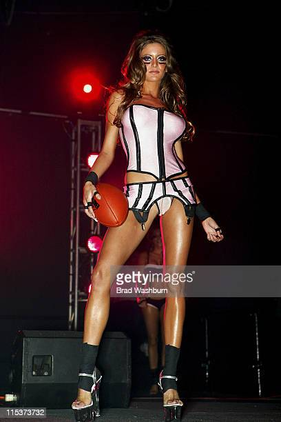 Model in the fashion show during Lingerie Bowl HalfTime Challenge 2005 February 6 2005 at South Bay Studios Long Beach in Los Angeles California...