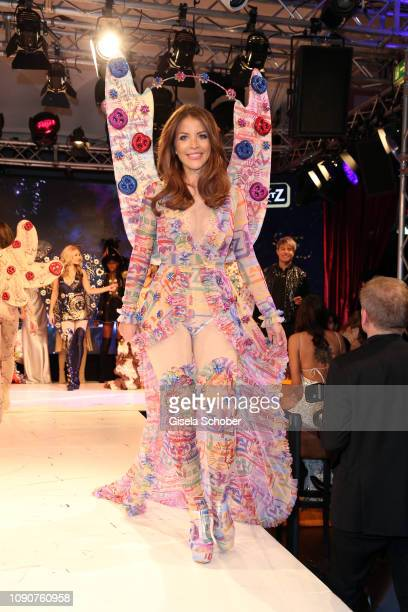 Model Ina Aogo during the Rockin' Chocolate Lambertz Monday Night 2019 fashion show on January 28 2019 in Cologne Germany