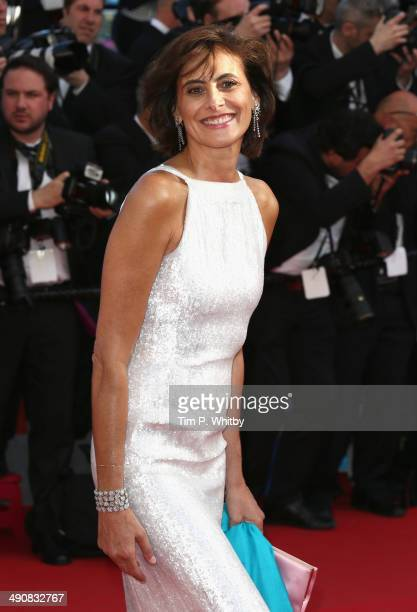 Model Ines de La Fressange attends the 'Mr Turner' premiere during the 67th Annual Cannes Film Festival on May 15 2014 in Cannes France