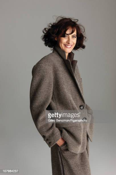 Model Ines de la Fressange is photographed for Madame Figaro on September 7 2010 in Paris France Published image Figaro ID 098066014 Suit by Sonia...