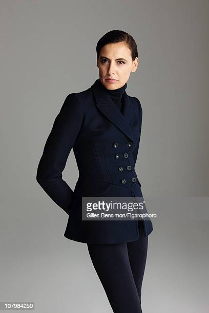 Model Ines de la Fressange is photographed for Madame Figaro on September 7 2010 in Paris France Figaro ID 098066026 Outfit by Azzedine Alaia CREDIT...