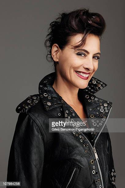 Model Ines de la Fressange is photographed for Madame Figaro on September 7 2010 in Paris France Figaro ID 098066021 Jacket by Jean Paul Gaultier...