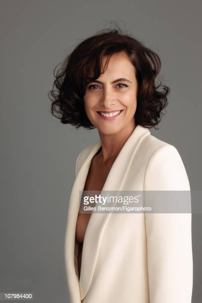 Model Ines de la Fressange is photographed for Madame Figaro on September 7 2010 in Paris France Figaro ID 098066024 Jacket by Chloe CREDIT MUST READ...