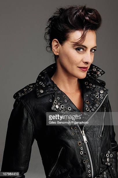 Model Ines de la Fressange is photographed for Madame Figaro on September 7 2010 in Paris France Figaro ID 098066020 Jacket by Jean Paul Gaultier...