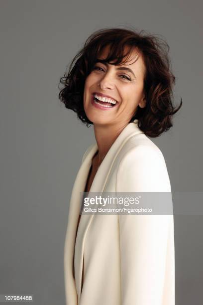 Model Ines de la Fressange is photographed for Madame Figaro on September 7 2010 in Paris France Figaro ID 098066023 Jacket by Chloe CREDIT MUST READ...