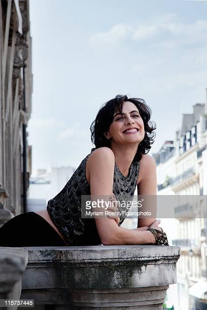 Model Ines de la Fressange is photographed for Madame Figaro on May 6 2011 in Paris France Published image Figaro ID 100864003 Top by Chanel Haute...