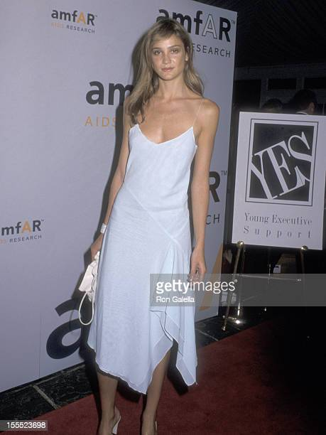 Model Ines Rivero attends the Ninth Annual Boathouse Rock Dance Party to Benefit amfAR on June 12 2000 at the Loeb Boathouse Central Park in New York...