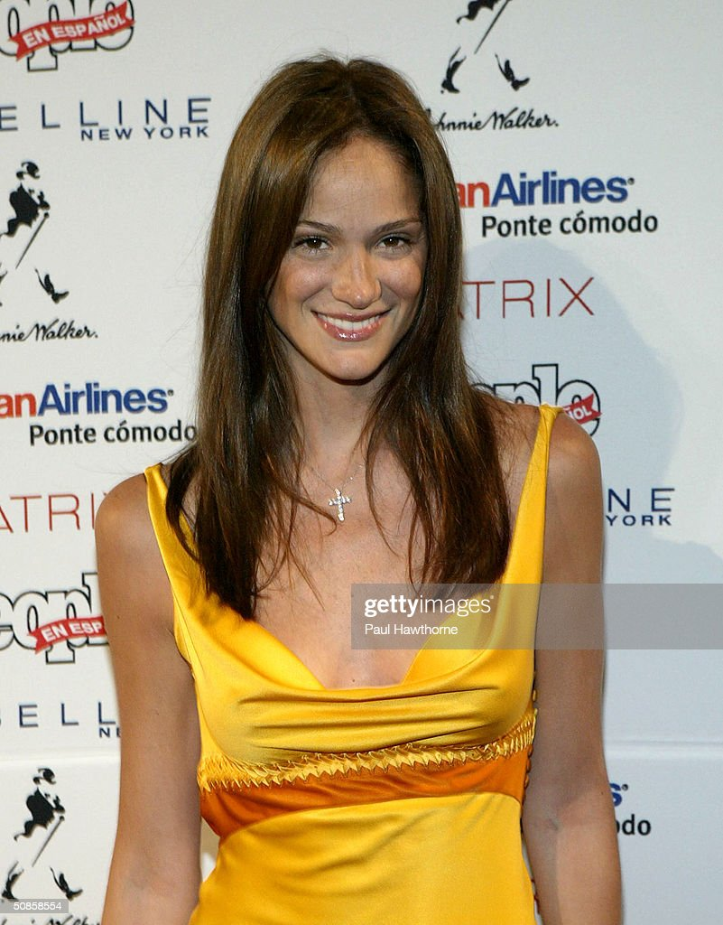 Model Ines Rivero attends the 'People En Espanol' 50 Most Beautiful People Gala at Splashlight Studios May 19, 2004 in New York City.