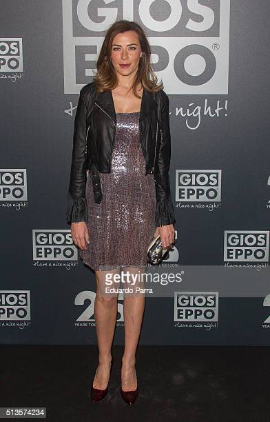Model Ines Sainz attends Gioseppo 25th anniversary party photocall at Callao cinema on March 3 2016 in Madrid Spain