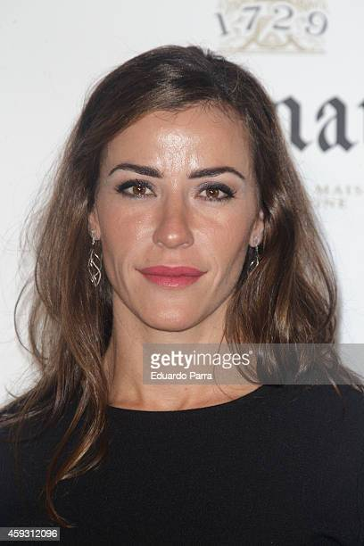 Model Ines Sainz attends Ruinart Rose Champagne party photocall at Casino de Madrid on November 20 2014 in Madrid Spain
