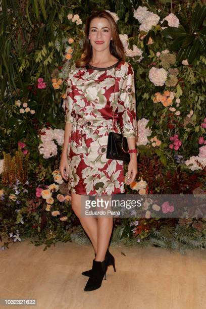 Model Ines Sainz attends the 'Salvatore Ferragamo' new boutique opening party photocall at Salvatore Ferragamo store on September 12 2018 in Madrid...
