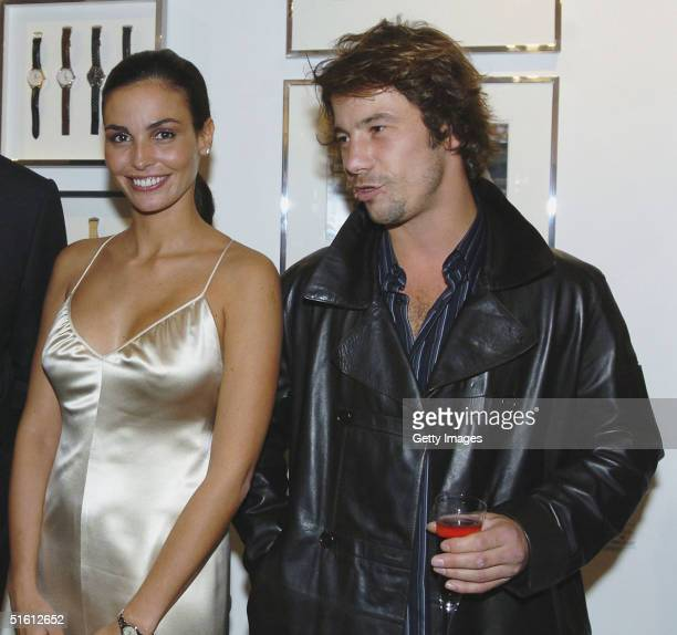 Model Ines Sastre and musician Jay Kay attend the private view for Carrera 1964 2004 40 Years Of Legend at the Getty Images Gallery on October 28...