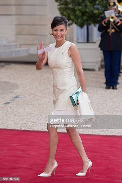Model Ines Sastre arrives at the State Dinner offered by French President François Hollande at the Elysee Palace on June 2 2015 in Paris France