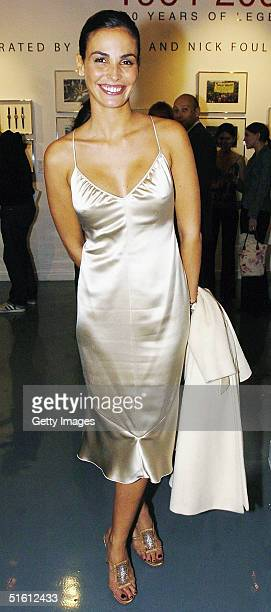 Model Ines Sastre attends the private view for 'Carrera 1964 2004 40 Years Of Legend' at the Getty Images Gallery on October 28 2004 in London...