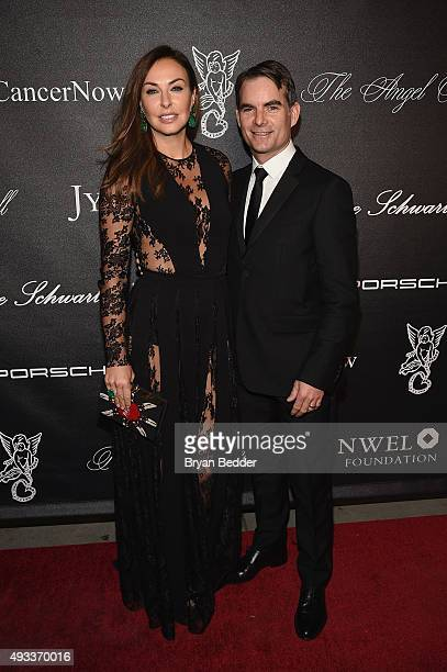 Model Ingrid Vandebosch and NASCAR Driver Jeff Gordon attend Angel Ball 2015 hosted by Gabrielle's Angel Foundation at Cipriani Wall Street on...
