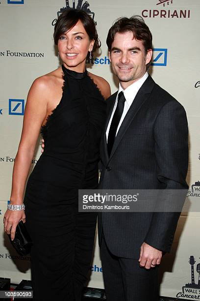 Model Ingrid Vandebosch and Nascar driver Jeff Gordon attend the 2007 Cipriani Wall Street Concert Series featuring Lenny Kravitz at Cipriani Wall...