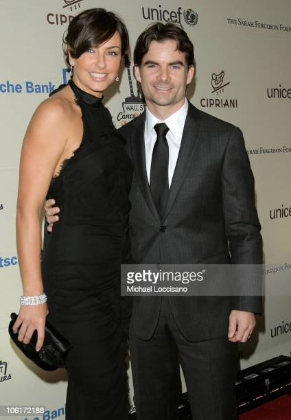 Model Ingrid Vandebosch and NASCAR driver Jeff Gordon attends the Cipriani Wall Street Concert Series featuring Lenny Kravitz at Cipriani Wall Street...