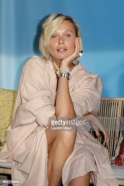 Model Inguna Butane attends 'Ibiza Boheme' Launch Party by BHV Le Marais on June 7 2018 in Paris France