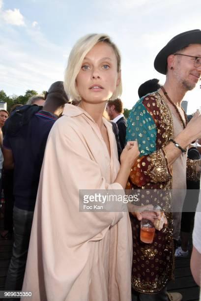 Model Inguna Butane attends 'Ibiza Boheme' Launch Party By BHV Marais on BHV Marais Boat on June 7 2018 in Paris France