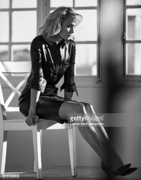 Model Inguna Butane poses at a fashion shoot for Madame Figaro on December 12 2017 in Paris France Suit shoes PUBLISHED IMAGE CREDIT MUST READ Lucian...