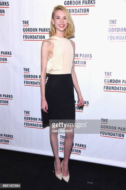 Model Inna Pilipenko attends the 2017 Gordon Parks Foundation Awards gala at Cipriani 42nd Street on June 6 2017 in New York City