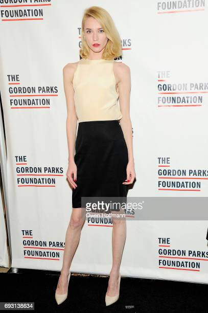 Model Inna Pilipenko attends the Gordon Parks Foundation Awards Dinner Auction at Cipriani 42nd Street on June 6 2017 in New York City