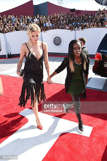 Model Ireland Baldwin and rapper Angel Haze attend the 2014 MTV Video Music Awards at The Forum on August 24 2014 in Inglewood California