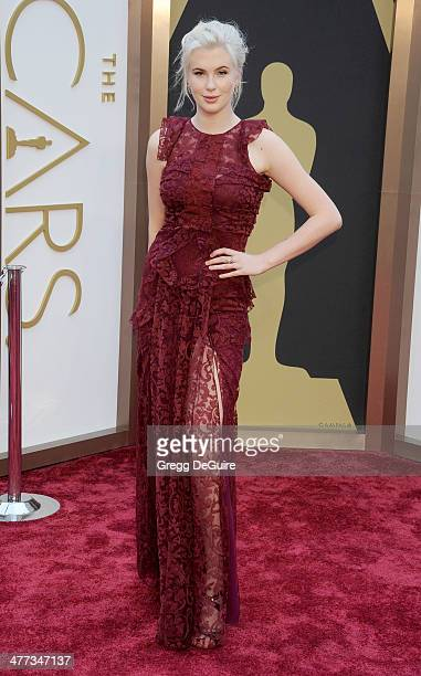 Model Ireland Baldwin arrives at the 86th Annual Academy Awards at Hollywood Highland Center on March 2 2014 in Hollywood California