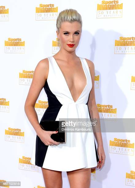 Model Ireland Baldwin attends NBC and Time Inc celebrate the 50th anniversary of the Sports Illustrated Swimsuit Issue at Dolby Theatre on January 14...