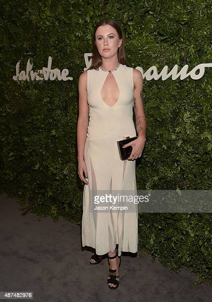Model Ireland Baldwin attends the Salvatore Ferragamo Celebration of 100 Years in Hollywood with the newly unveiled Rodeo Drive flagship at Salvatore...