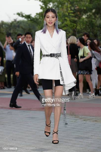 Model Irene Kim attends during a promotional event for the KAWSHOLIDAY on July 19 2018 in Seoul South Korea