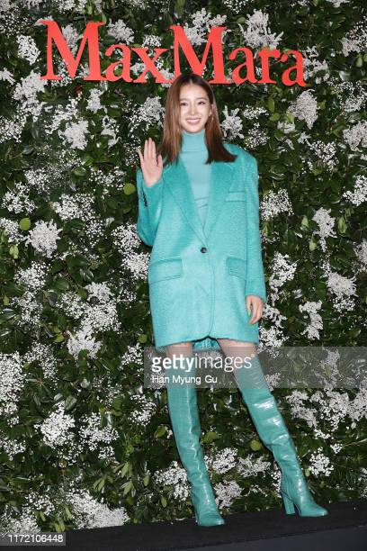Model Irene Kim attends the photocall for 'Max Mara' flagship store opening on September 03, 2019 in Seoul, South Korea.
