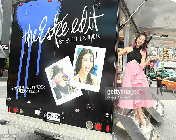 Model Irene Kim Guest Editor of The Estee Edit celebrating the opening of Sephora Yonge and Eglinton on July 8 2016 in Toronto Canada