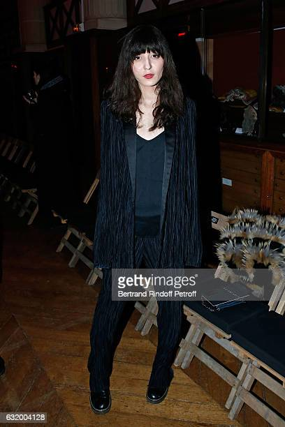 Model Irina Lazareanu attends the Haider Ackermann Menswear Fall/Winter 20172018 show as part of Paris Fashion Week Held at Galerie de la Mineralogie...
