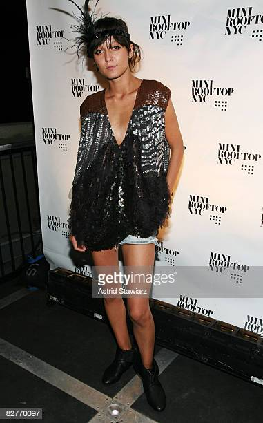 """Model Irina Lazareanu attends the """"Mini Rooftop NYC"""" Hosts V Magazine Celebration at One Space on September 10, 2008 in New York City"""