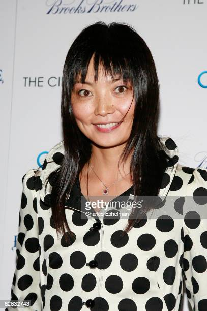 Model Irina Pantaeva arrives at the screening of Ghost Town hosted by The Cinema Society with Brooks Brothers and Bombay Sapphire at the IFC Center...