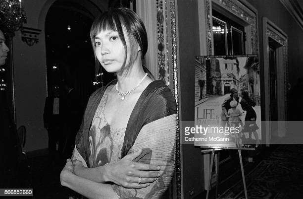 Model Irina Pantaeva at the New York premiere of the movie 'Life Is Beautiful' at the Gotham Theater on October 1998 in New York City New York