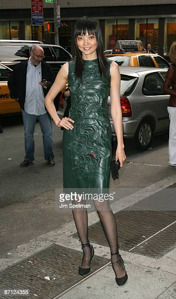 Model Irina Pantaeva attends a screening of Easy Virtue hosted by The Cinema Society and The Wall Street Journal with JaegerLecoultre and Brooks...