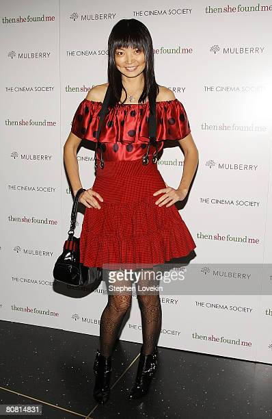 Model Irina Pantaeva attends a screening of Then She Found Me hosted by The Cinema Society and Mulberry at AMC Lincoln Square Theatre April 21 2008...