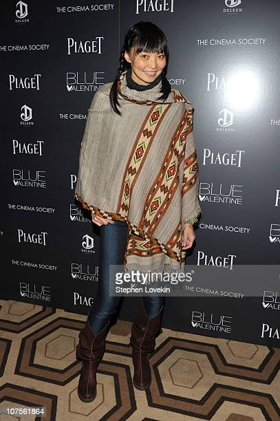Model Irina Pantaeva attends the Cinema Society Piaget screening of Blue Valentine at theTribeca Grand Hotel on December 13 2010 in New York City
