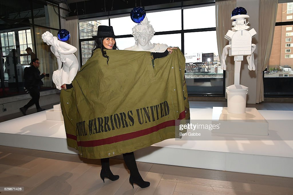 Model Irina Pantaeva attends the Jeff Koons x Google launch on May 09, 2016 in New York, New York.