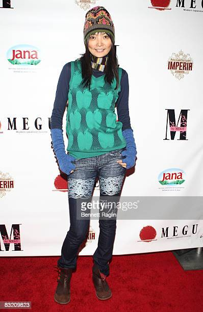 Model Irina Pantaeva attends the launch of 'M' by Megu on October 7 2008 in New York City
