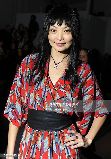 Model Irina Pantaeva attends the Mara Hoffman Fall 2012 fashion show during MercedesBenz Fashion Week at The Stage at Lincoln Center on February 11...