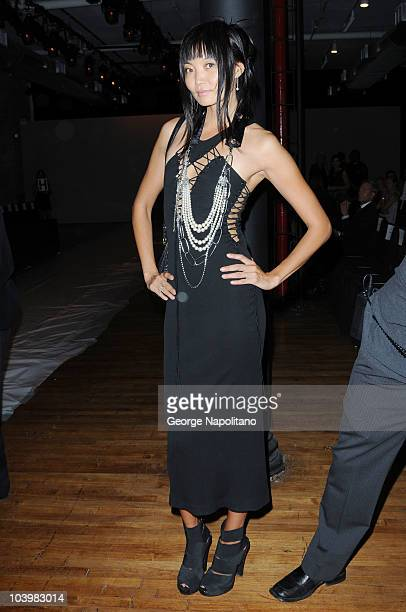 Model Irina Pantaeva attends the Nicole Miller Spring 2011 fashion show during MercedesBenz Fashion Week at 82 Mercer on September 10 2010 in New...